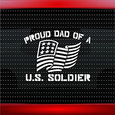 Proud army dad 1 soldier military car sticker truck window vinyl decal color purple