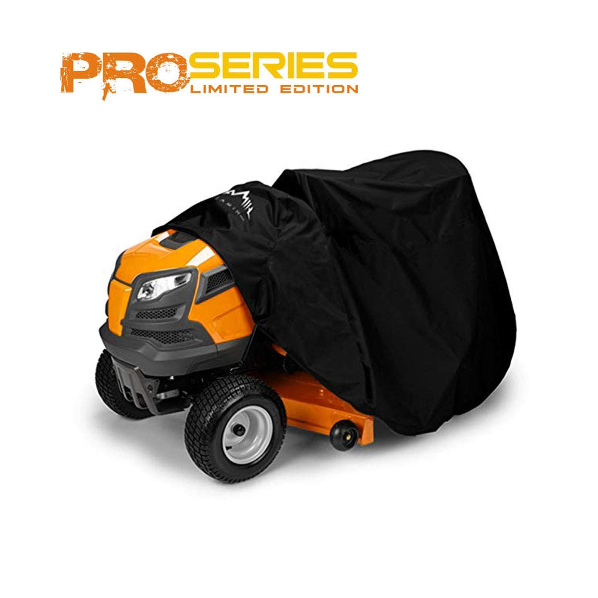 Himal Pro Lawn Mower Cover - Heavy Duty 600D Polyester Oxford, Waterproof, UV Resistant, Universal Size Tractor Cover Fits Decks up to 54'' with Storage Bag, Black by Himal Outdoors