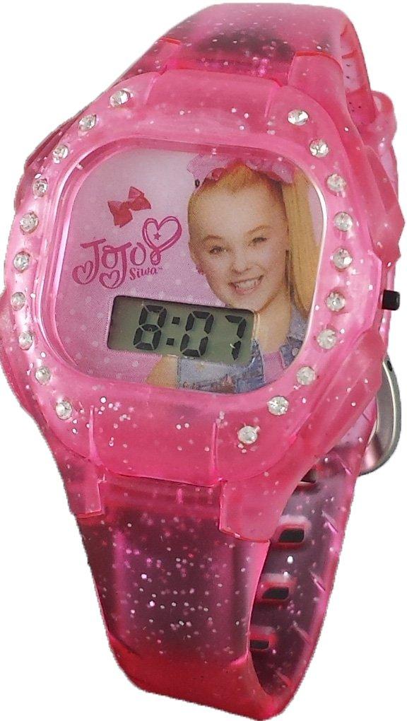 JoJo Siwa Little Girl's Pink Digital Light up Glitter Watch