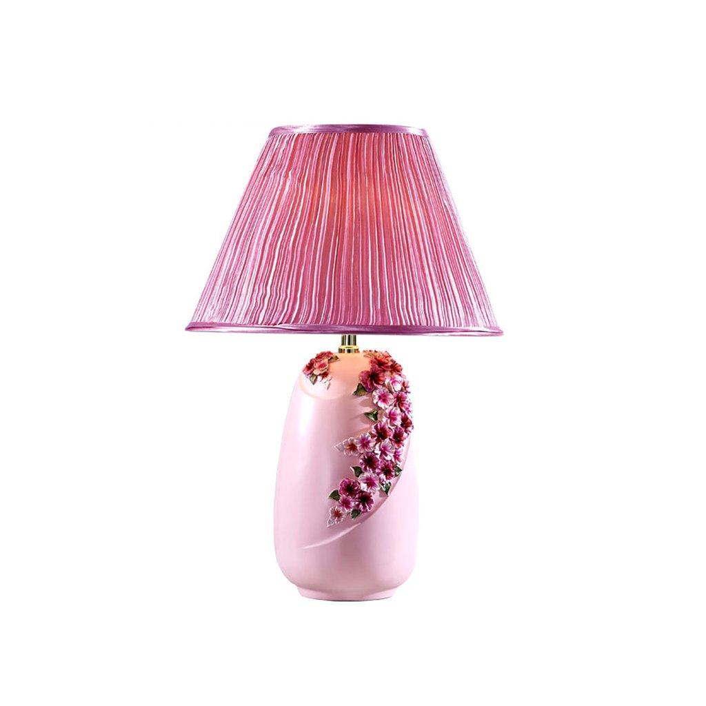 Wshfor Moderne Europische Luxus Harz Tischlampe Dekorative Lampe Schlafzimmer Wohnzimmer Esstisch Rosa Lila Color Pink Amazonde