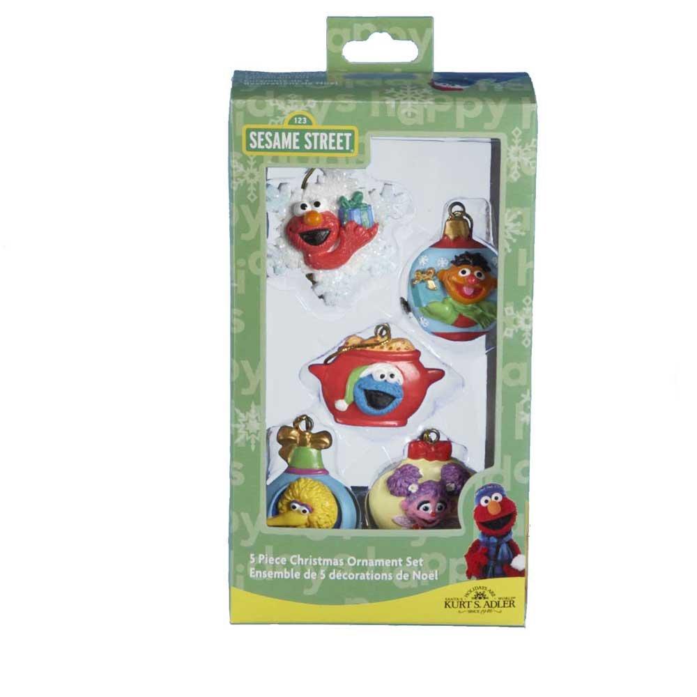 Amazon Com Sesame Street 5 Pc Box Miniature Ornament Set