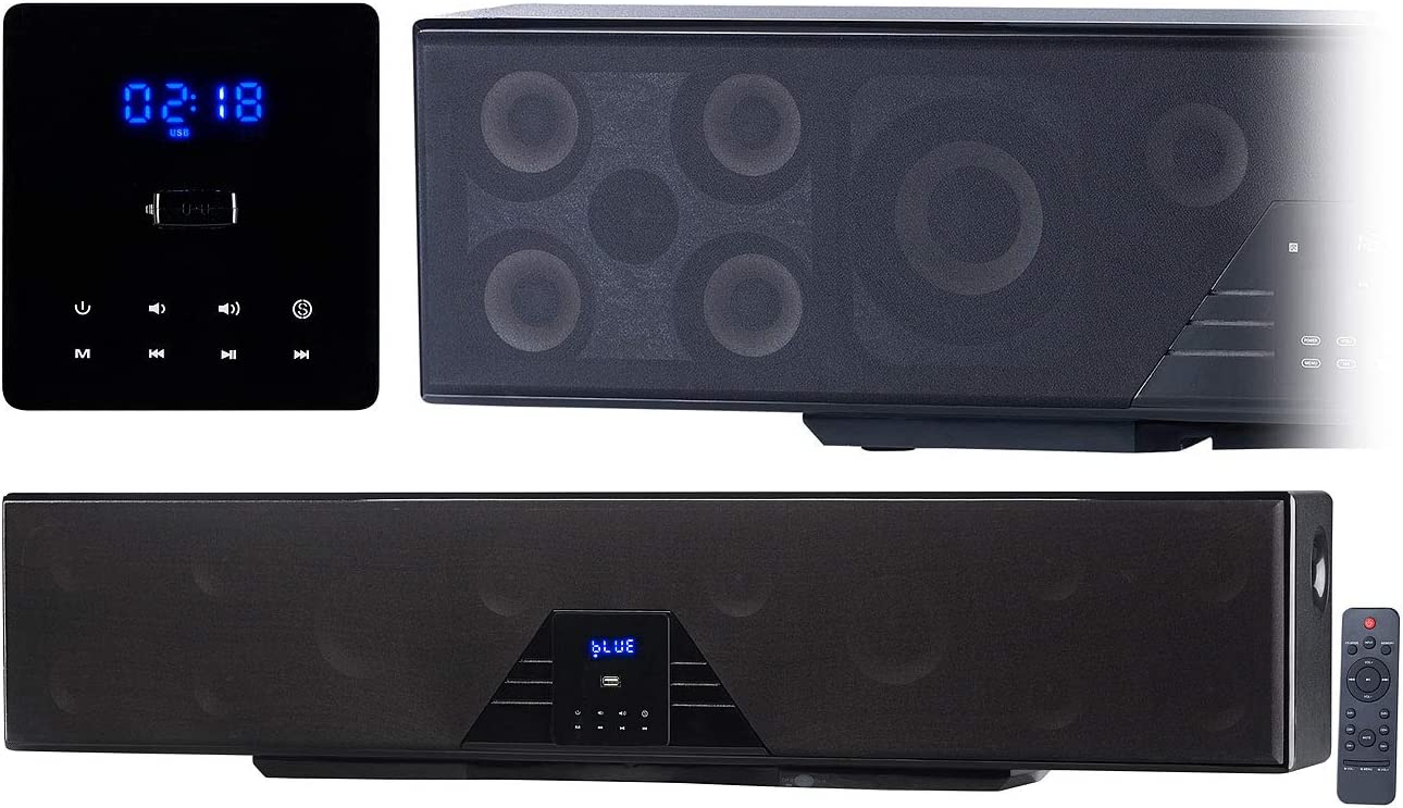 Auvisio Home Cinema System 6 Channel 3d Soundbar 5 1 Surround Sound Bluetooth 4 0 Hdmi 250 Watts Speaker Tv Mp3 Hifi