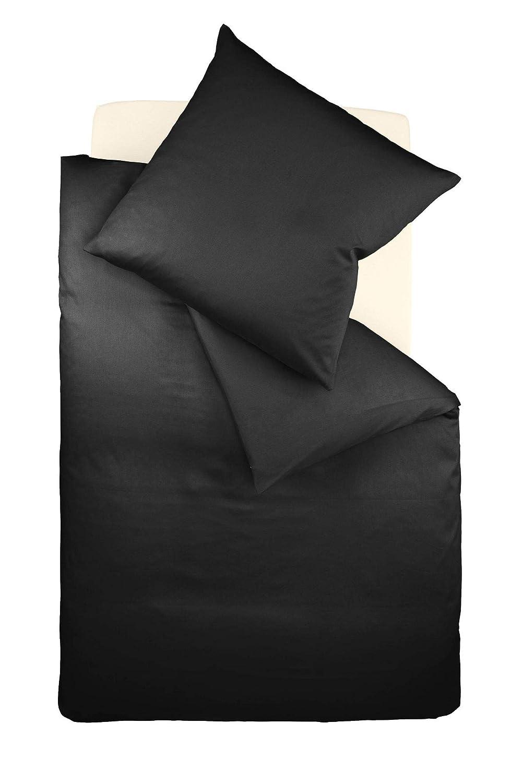 Fleuresse Colours Interlock Bettwäscheset, Jersey, schwarz, 38.4 x 27.8 x 5 cm, 2-Einheiten