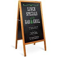"UNHO Magnetic A Frame Chalkboard Sign Free Standing Chalkboard Easel Sandwich Board Double Sides Sidewalk Sign Blackboard Menu Display Board for Bars Cafes Restaurant Wedding 29.1"" x 17.3"""