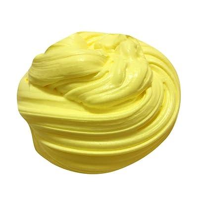 2X Slime Fluffy Floam Argile pate Boue Jouet Antistress Relief décompression pour enfant Adulte (Jaune)