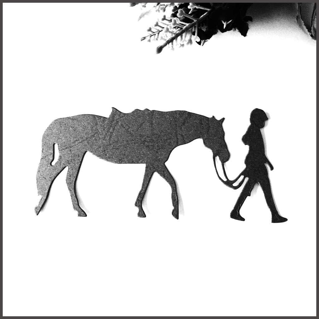 1pcs DIY Handwerk Schneid-Form Ziehende Pferd Metall Stanzschablone DIY Scrapbooking Album Stempel Papier Karte Pr/ägung Basteln Dekoration