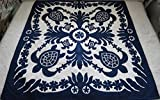 Hawaiian Quilt bedspread/wall hanging, 100% hand quilted and 100% hand appliquéd 80'' x 80''