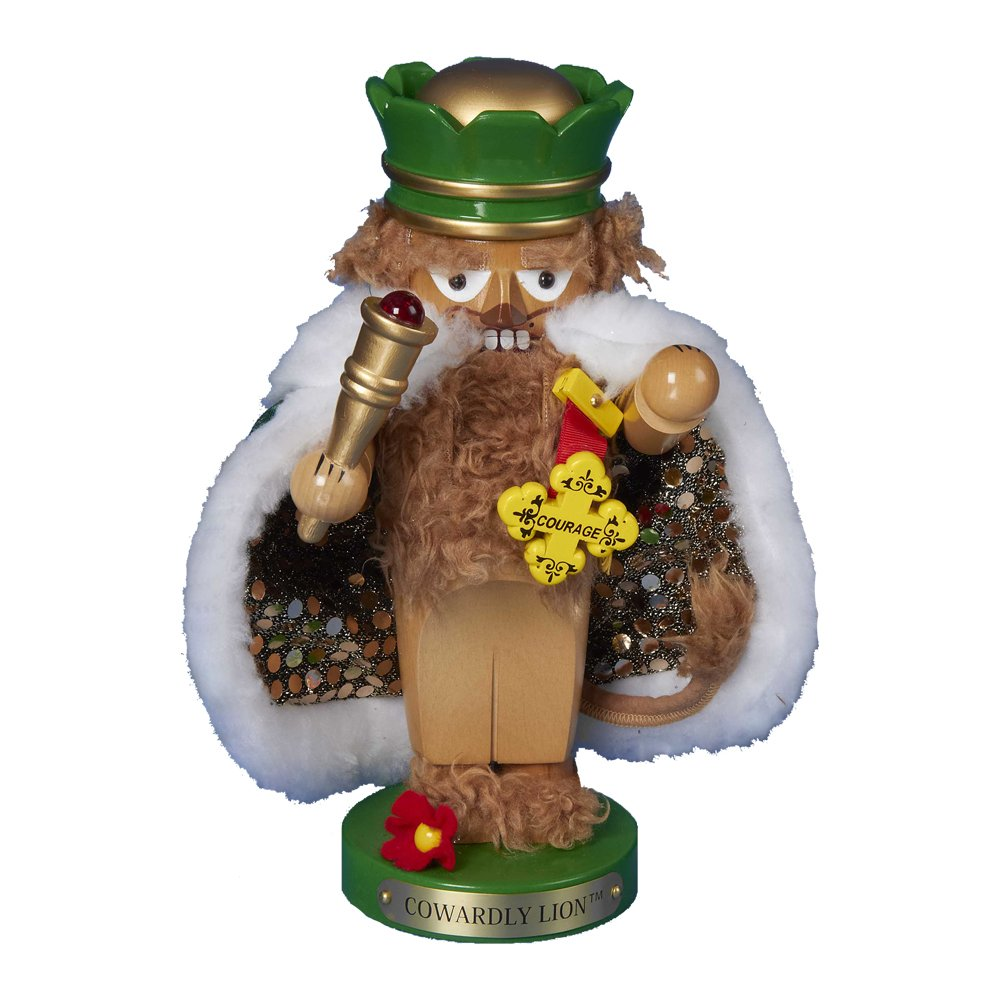 Kurt Adler Steinbach Chubby Wizard of Oz Cowardly Lion Nutcracker, 11-Inch