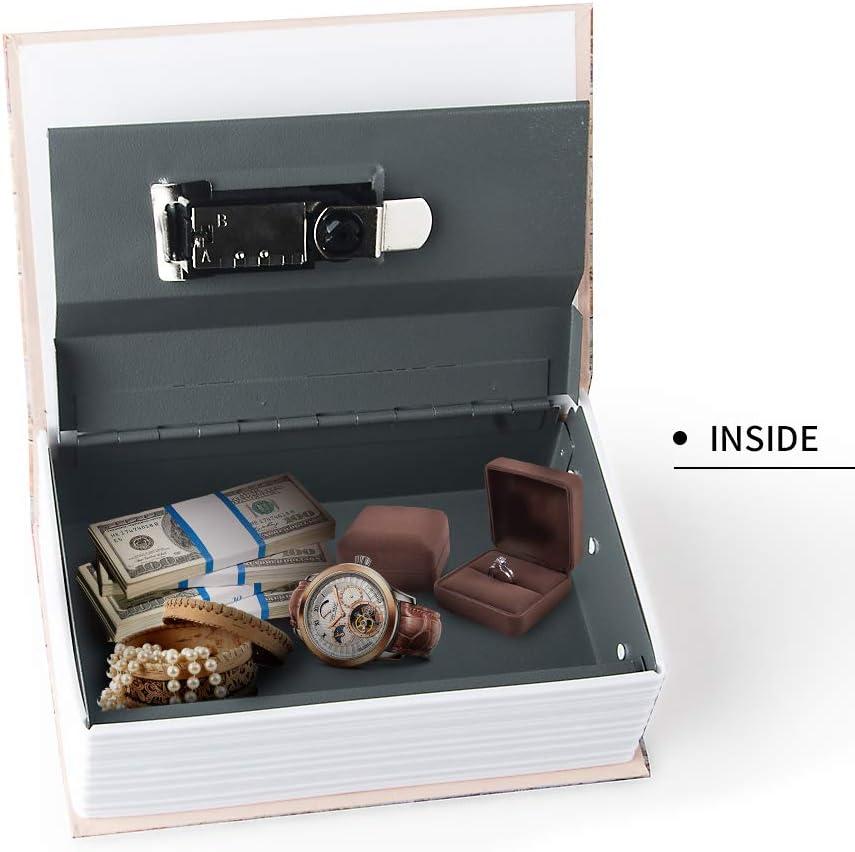blu dizionario segreto cassaforte con serratura a combinazione di sicurezza e chiave libro diversivo nascosto sicuro Cassetta di sicurezza per libri di piccole dimensioni