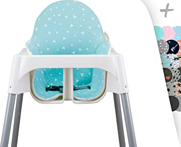 MAT FOR IKEA ANTILOP Highchair janabebe® (BLUE SPARKLES)