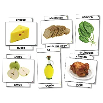Food Bilingual Language Cards: Toys & Games