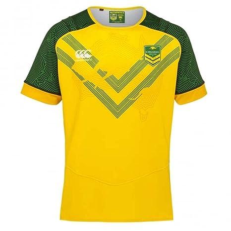 59f4dcbc365 Amazon.com : Canterbury 2017-2018 Kangaroos Replica Training Jersey  (Yellow) : Clothing