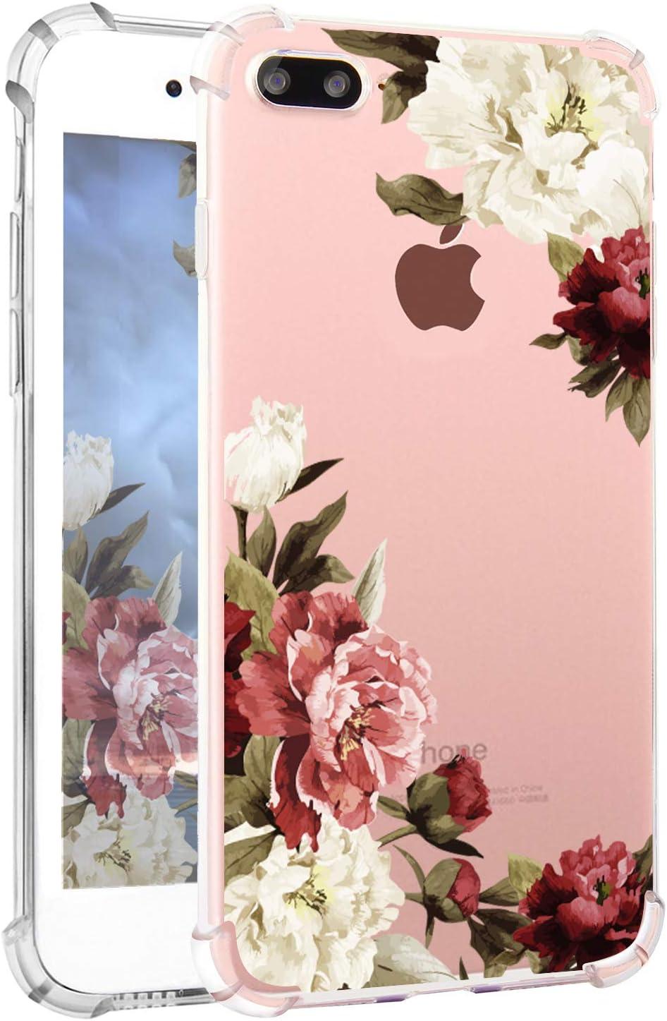 Amazon Com Hepix Iphone 8 Plus Floral Case Iphone 7 Plus Case