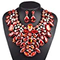 3 Colors Costume Statement Necklace Women Jewelry Fashion Necklace 1 Set Gift Box