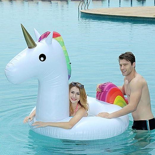 AimdonR - Anillo de natación Hinchable de Unicornio con ...