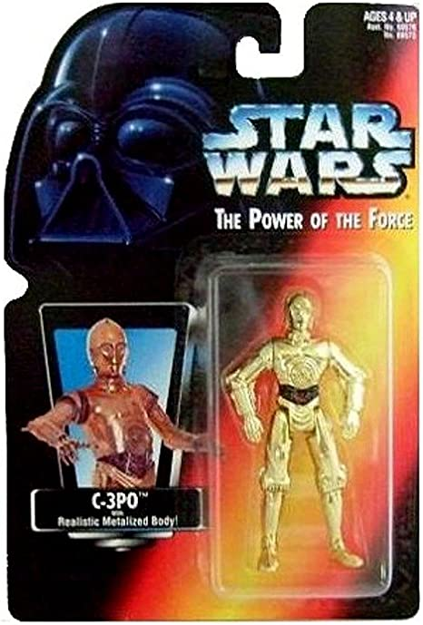 C-3PO Star Wars The Power Of The Force Com Corpo realista Metalizadas