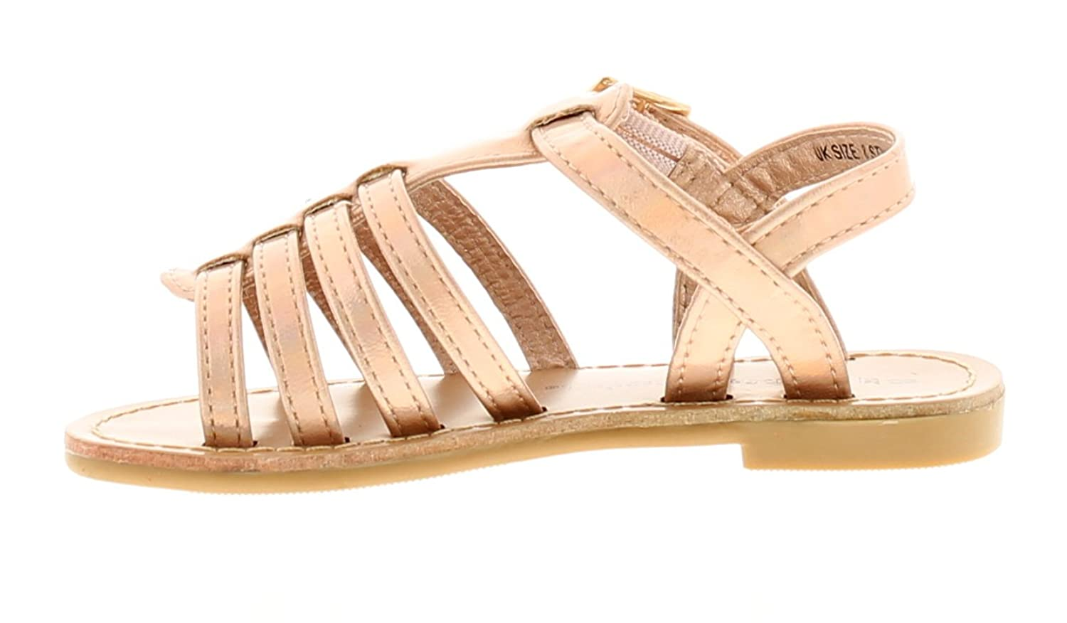 Princess Stardust New Younger Girls/Childrens Rose Gold Buckle Fastening  Sandals - Rose Gold - UK Sizes 6-12: Amazon.co.uk: Shoes & Bags
