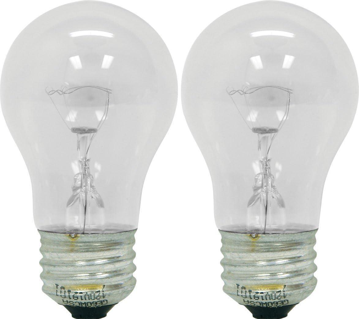 Appliance Oven Refrigerator Bulbs, A15 Shape Appliance Bulb, 40 Watt, High Temp, E27 Medium Base, Clear Glass, Oven Bulbs