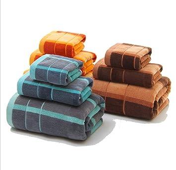 BIANJESUS Conjunto de Toallas de algodón 3 Piezas 1 Toallas de baño 1 Toallas de mano1