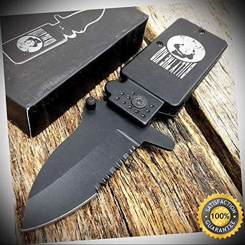 Billy Childs Collection (BILLY THE KID 6'' Open Assisted Open Pocket Knife Lighter Style LK1689-BK - Outdoor For Camping Hunting Cosplay)