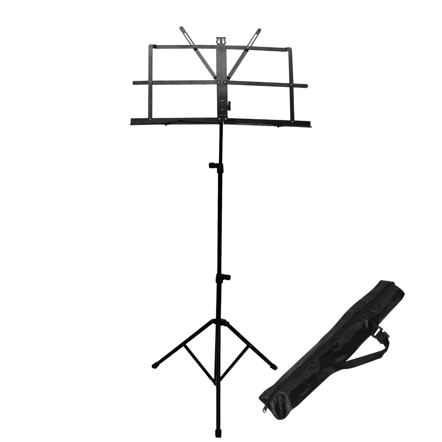 chromacast cc mstand folding music stand with carry