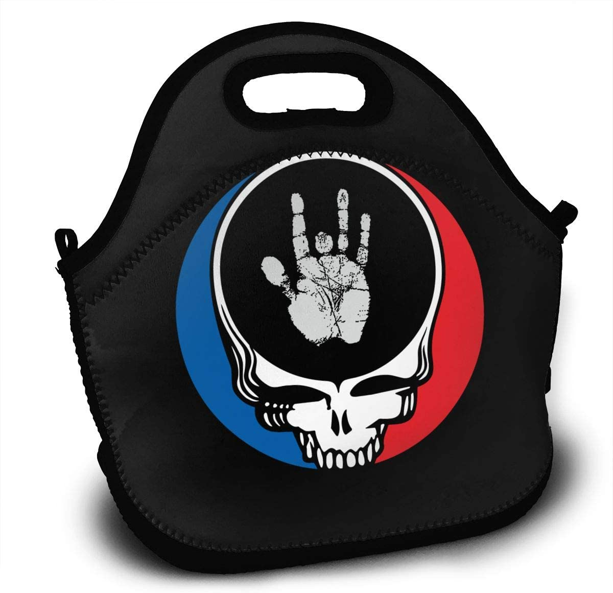 Grat-eful De-ad Jerry Hand Lunch Bag Lunch Box Thermal Insulated Lunch Pouch Picnic Bag for School Cross Body Backpack