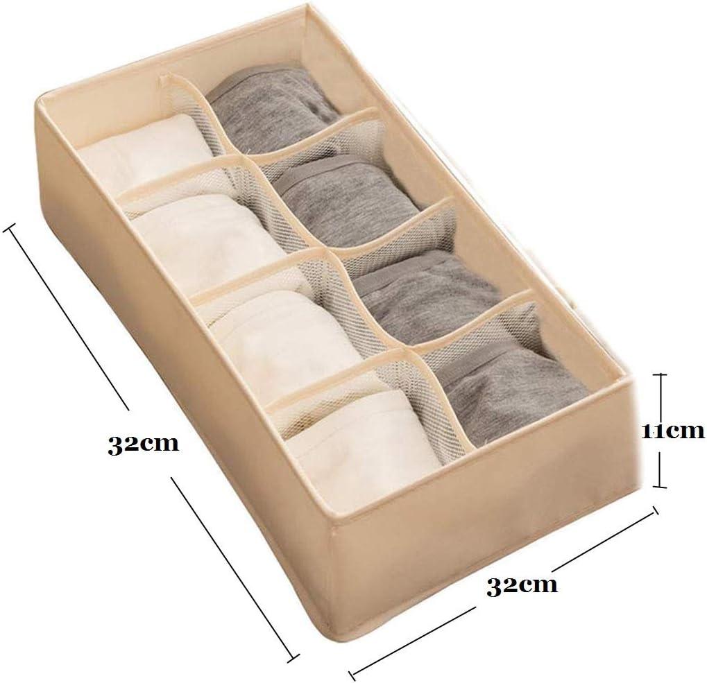 Bufandas Pa/ñuelos Marr/ón Juego de 4 Cajas Plegables Organizadores de Cajones para Almacenamiento y Organizaci/ón de Ropa Interior Calcetines