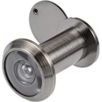 uxcell® Solid Brass 200-degree Door Viewer Peephole with Cover for 35mm-60mm Doors, Polished Chrome Finish