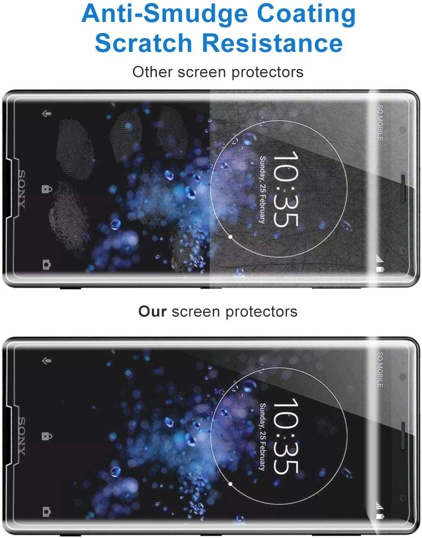 No Retail Package Clear 50 PCS for Sony Xperia XZ2 Compact 0.3mm 9H Surface Hardness 3D Explosion-Proof Tempered Glass Screen Film YINZHI Screen Protector Film