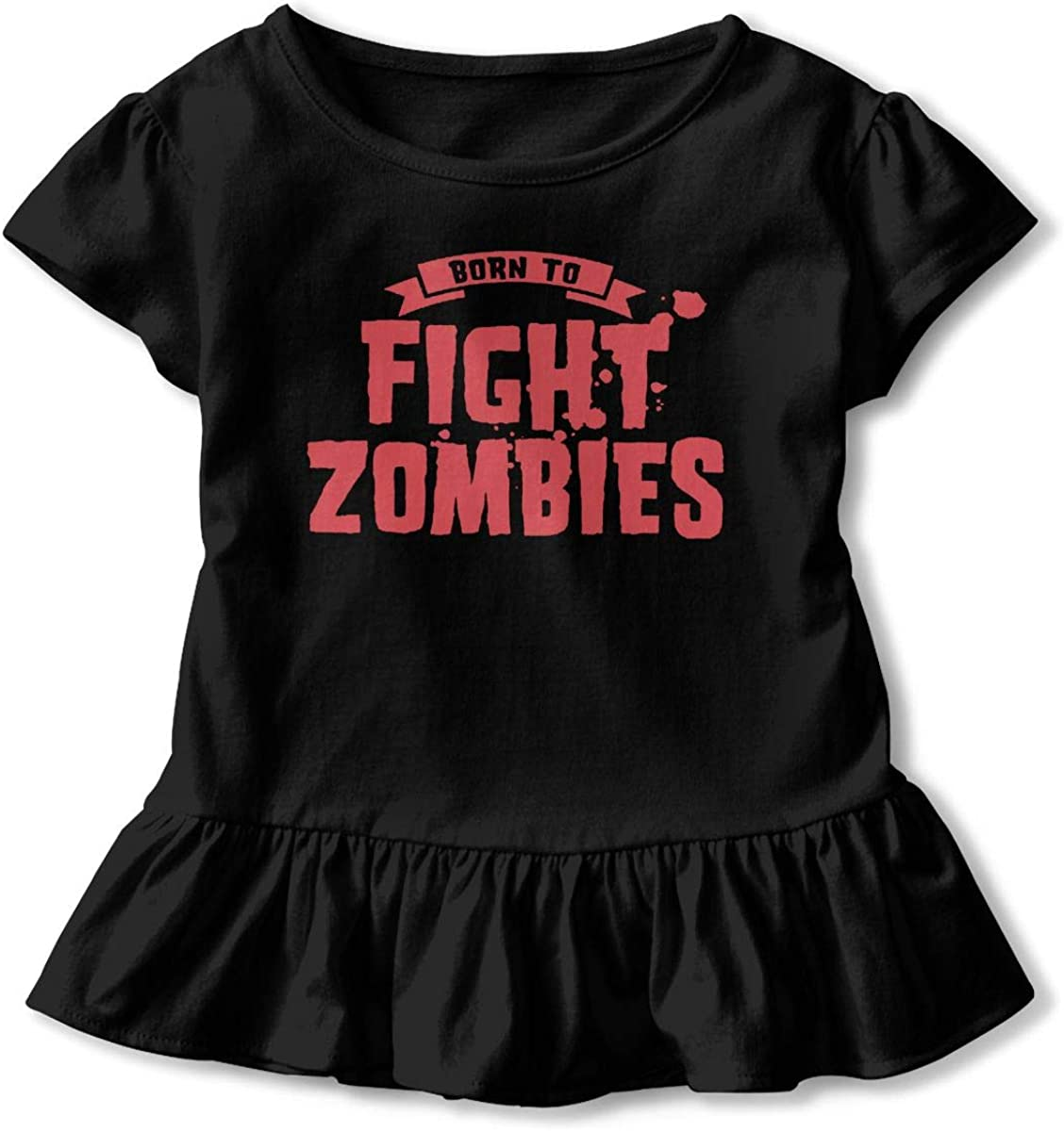 Born to Fight Zombies Baby Skirts Stylish Kids T Shirt Dress Comfortable Flounces Costume