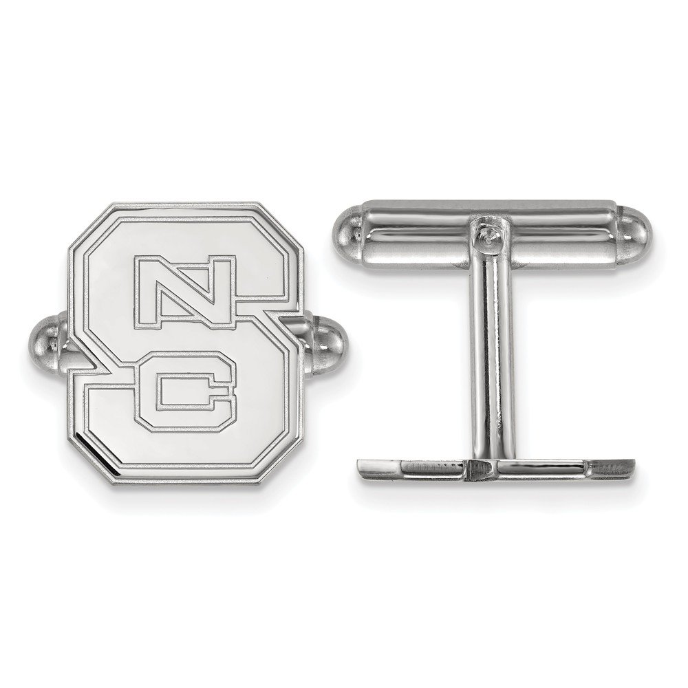 NC State Cuff Links (Sterling Silver)