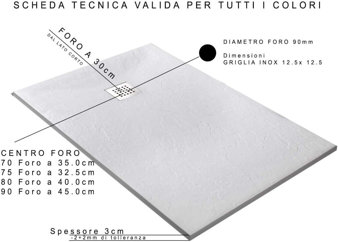 Olimpo Docce Plato de Ducha Elegance Resina Mineral mármol Topo ...