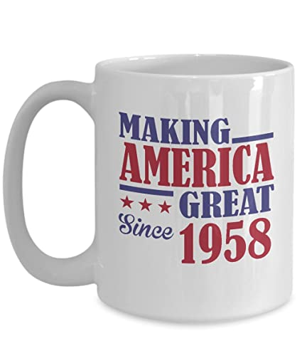 60th Birthday Gifts For Women Men Great 1958 Happy 60 Years Old Yr Funny Coffee Mug