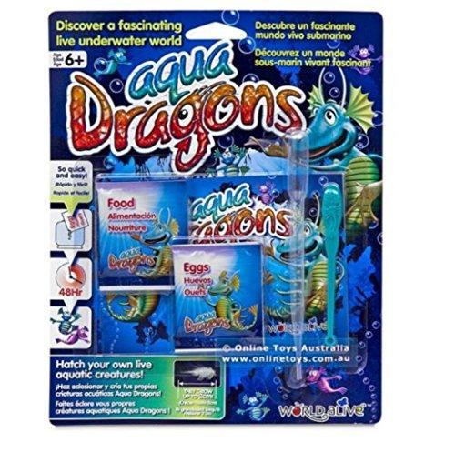 (Aqua Dragons Sea Monkeys Food & Eggs Pet Refill Kit Brine Shirmp)