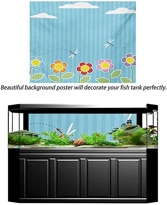 Lantern Aquarium Photography Background Colorful Various Different Figures Framework Design with Crescent Moon and Stars Baby Shower Backdrop Kids Children Birthday Party Multicolor L30 X H18 Inch