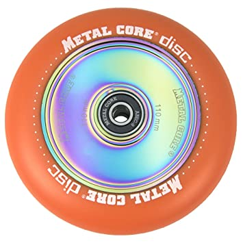 Metal Core Rueda Disc para Scooter Freestyle, Diámetro 110 mm (Naranja): Amazon.es: Deportes y aire libre