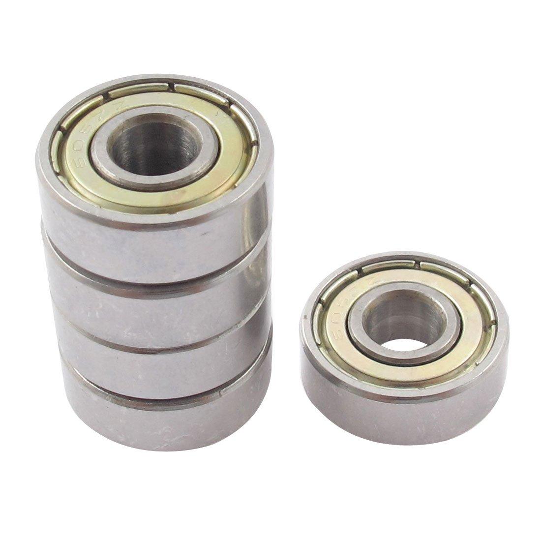 sourcingmap® 5pz 606ZZ metallo sigillato fila singolo cuscinetto sfere gola profonda 17mmx6mmx6mm sourcing map a15033100ux0185