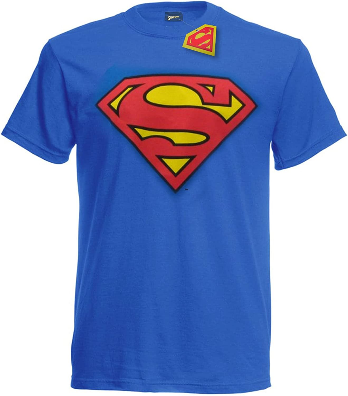 Camiseta de Superman con Logo Vintage cl/ásico X-Large Oficial DC Comics