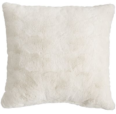 Fuzzy Ivory Pillow | Pier 1 Imports