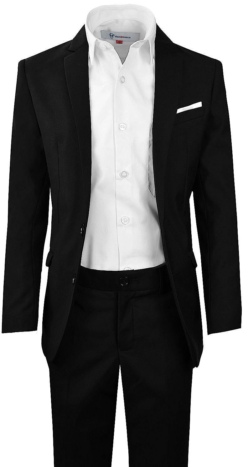 77fbe28eb Amazon.com  Black n Bianco Signature Boys  Slim Fit Suit Complete ...