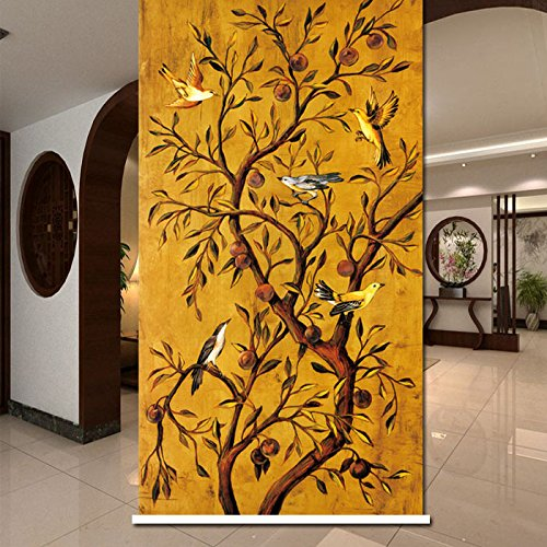 PASSENGER PIGEON Blackout Window Shades, Premium UV Protection Water Proof Custom Roller Blinds, Printed Picture Window Roller Shade, 52