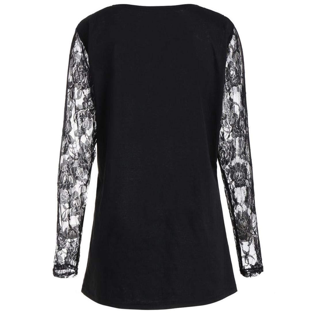 Womens Blouse Hollow Out Lace Pumpkin Print Long Sleeve Shirts Warm