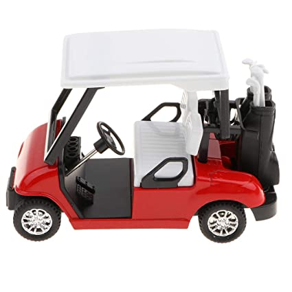 Homyl 1/20 Escala Modelo de Carro de Golf con Palo de ...
