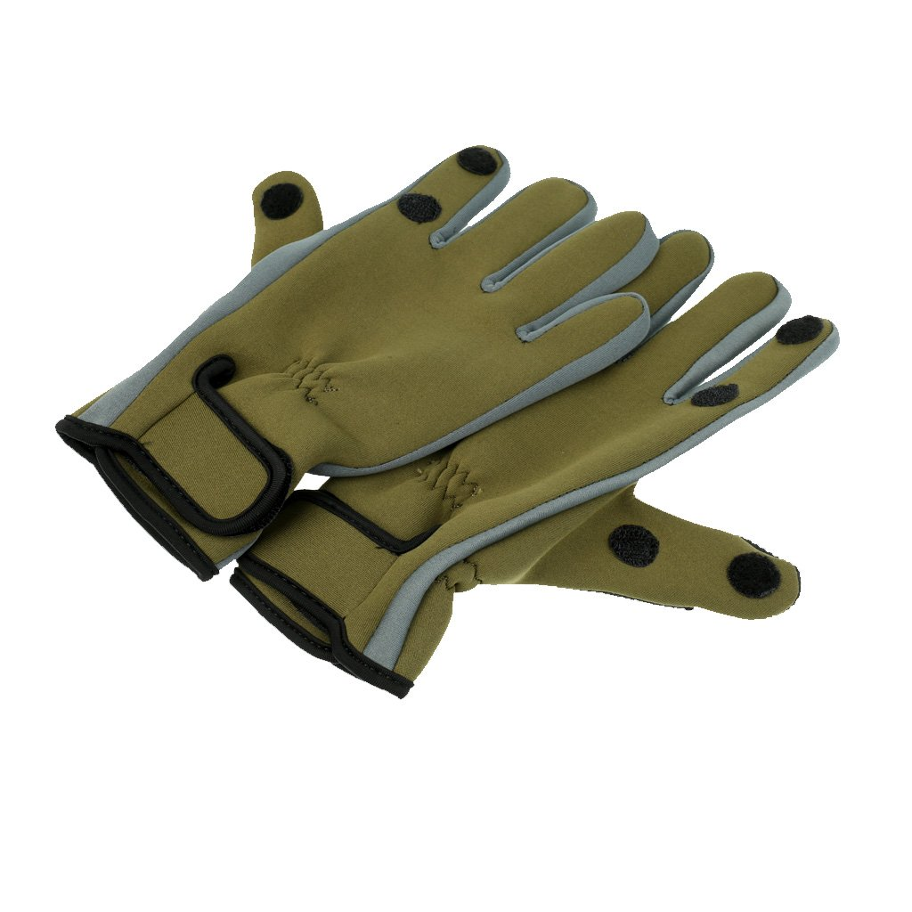 MagiDeal 1 Paar Neopren Handschuhe Angelhandschuhe für Angeln Outdoor Jagd Handschuh