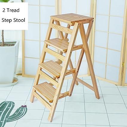 Ordinaire YD Step Stool Kitchen Wooden Ladders Small Foot Stools Wood Folding Step  Stool Adults U0026