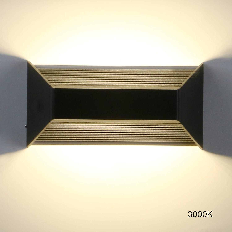 Pathson Round LED Wall Lamp 8W Waterproof Stairs Porch Patio Modern Decor Light