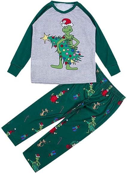 Qiujiam Family Matching The Grinch Pyjamas 2pcs Christmas Children ...