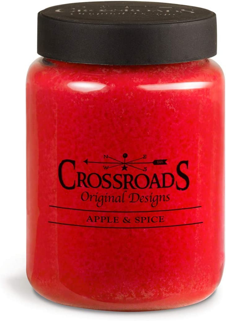 Crossroads Apple & Spice Scented 2-Wick Candle, 26 Ounce