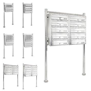 Moderno Sistema Buzón Caja De Correos Compartimentos Acero ...