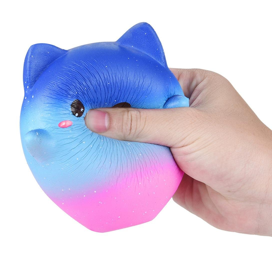 Cartoon Galaxy Kitty - Franterd Stress Reliever Kawaii Toy - Scented Slow Rising Squishy Simulation Gift - Kids &Adults Decompression Squeeze Toys - Educational Hop Decorative Props Toys by Franterd Toys (Image #5)